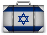 Israel Travel Luggage with Flag for Vacation