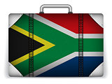 South Africa Travel Luggage with Flag for Vacation