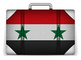 Syria Travel Luggage with Flag for Vacation