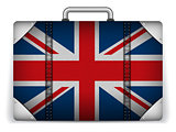 UK Travel Luggage with Flag for Vacation