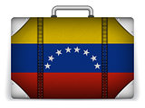 Venezuela Travel Luggage with Flag for Vacation