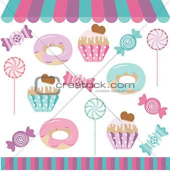 Candy Shop Digital Collage