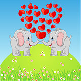 Cute Elephant in Love
