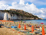 Landscapre of the beach of Vieste,  Apulia Italy