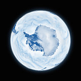 Antarctica on planet Earth