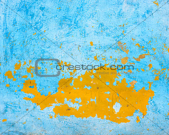 Blue and orange wall texture