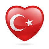 Heart icon of Turkey