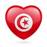 Heart icon of Tunisia
