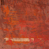 3d abstract grunge red orange pink wall background