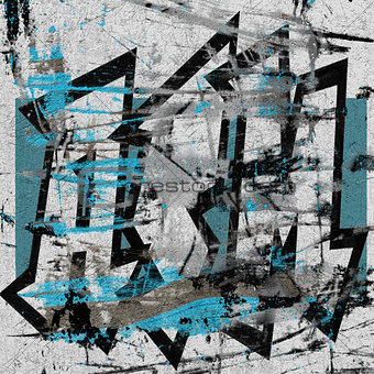 3d abstract worn graffiti on a grunge white wall