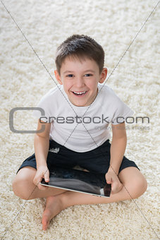 Smiling boy indoor