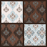 Damask pattern. Set