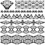 black oriental border and ornament eleven