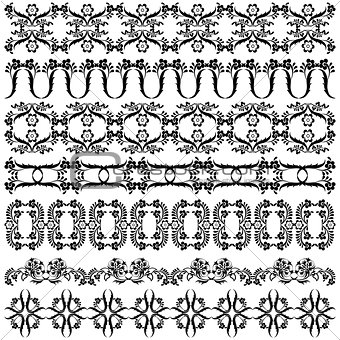 black oriental ottoman border design one