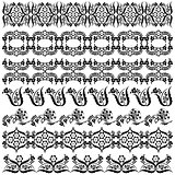 black oriental ottoman border design two