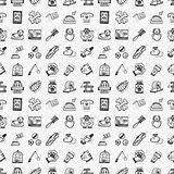 seamless doodle pet pattern