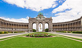 The Triumphal Arch in Cinquantenaire Parc in Brussels, Belgium