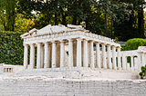 Detailed miniature model of Parthenon in Acropolis, Athens
