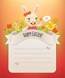Happy Easter Bunny Girl Greeting Card