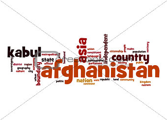 Afghanistan word cloud