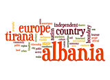 Albania word cloud