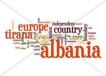Albania word cloud