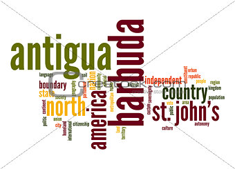 Antigua and Barbuda word cloud