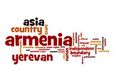 Armenia word cloud