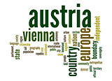 Austria word cloud