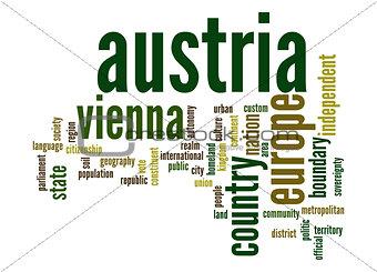 Austria word cloud