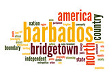 Barbados word cloud