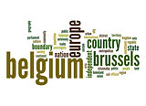 Belgium word cloud