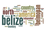 Belize word cloud