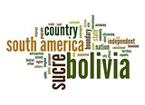 Bolivia word cloud