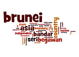 Brunei word cloud
