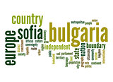 Bulgaria word cloud