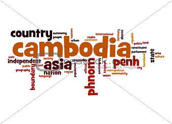 Cambodia word cloud