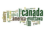 Canada word cloud