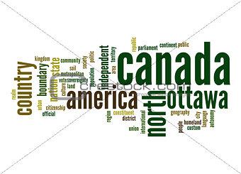 Canada word cloud