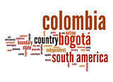 Colombia word cloud