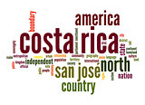 Costa Rica word cloud