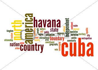 Cuba word cloud