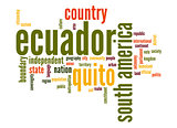 Ecuador word cloud