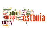 Estonia word cloud