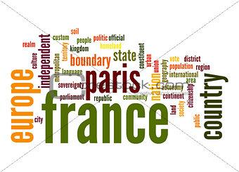 France word cloud