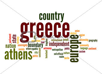 Greece word cloud