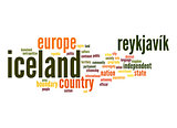 Iceland word cloud
