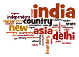 India word cloud
