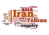 Iran word cloud