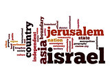 Israel word cloud